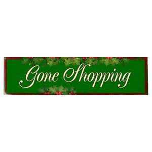 Gone Shopping Graphic Art Print on Wood