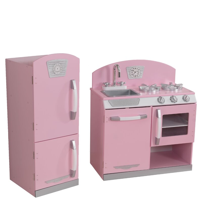 Kidkraft Retro Kitchen kidkraft 2 piece retro kitchen and refrigerator set & reviews