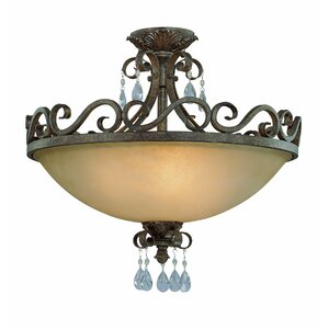 Lilliane 4-Light Semi Flush Mount