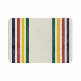 Draper Eagle Scout Stripes Memory Foam Bath Rug