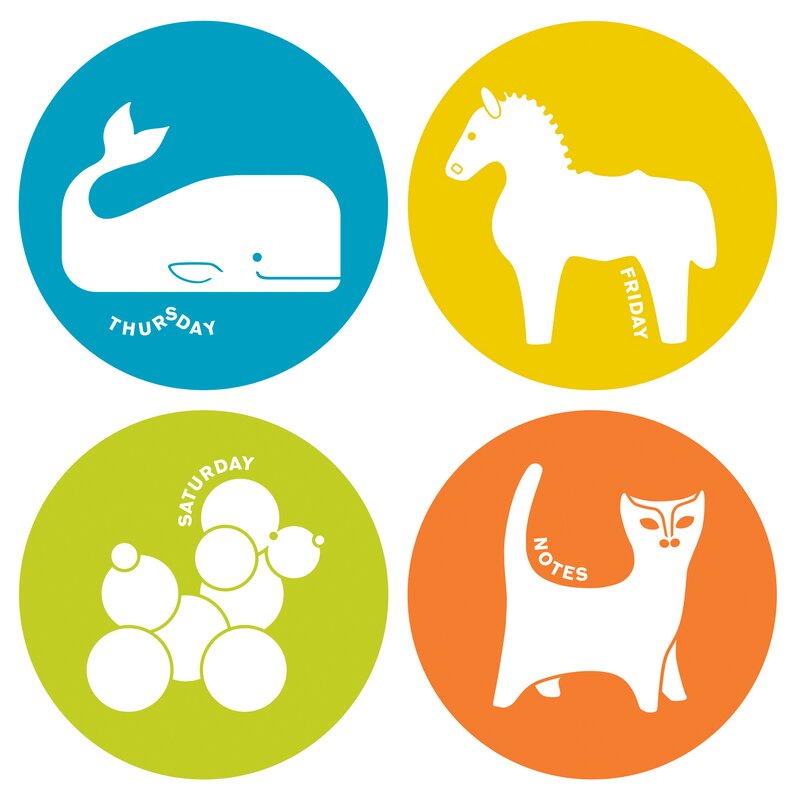 Jonathan Adler Menagerie Weekly Dots Dry Erase Whiteboard Wall Decal
