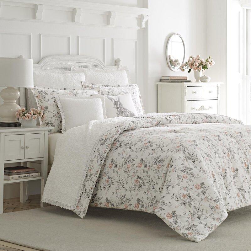 Laura Ashley Home Rosalie 3 Piece 100% Cotton Duvet Set by Laura ...