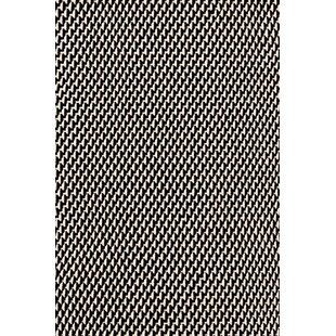 Two Tone Rope Hand Woven Black White Indoor Outdoor Area Rug