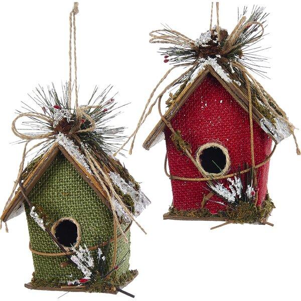 - Kurt Adler Paperboard Bird House Ornament & Reviews Wayfair