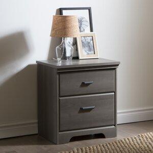 nachttische farbe schwarz holzfarbe graues holz. Black Bedroom Furniture Sets. Home Design Ideas