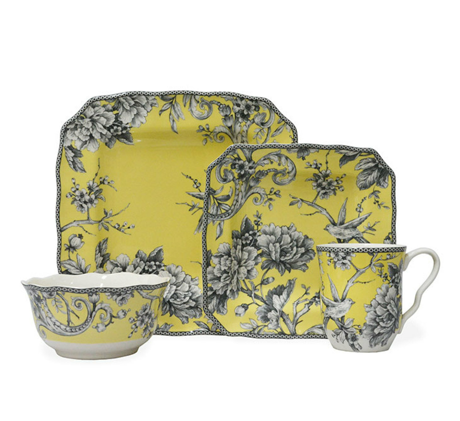 222 Fifth Adelaide 16 Piece Dinnerware Set, Service for 4 & Reviews ...