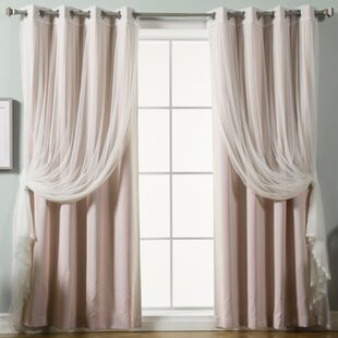 Baynton Striped Semi Sheer Thermal Grommet Curtain Panels Set Of 2