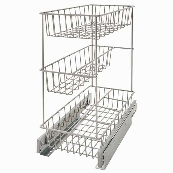 Narrow Triple Tier Cabinet Pull Out Organizer