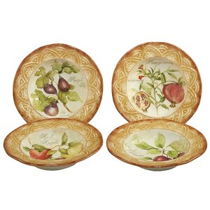 Carmichaels Fruit 4 Piece Pasta Bowl Set