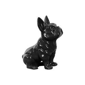 Ceramic Sitting French Bulldog Figurine