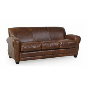 Leydy Top Grain Classical Loveseat by 17 Stories