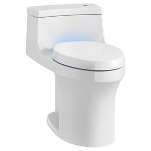 San Souci Touchless with Purefresh Comfort Height 1-Piece Compact Elongated 1.28 GPF Toilet with Aquapiston Flushing Technology