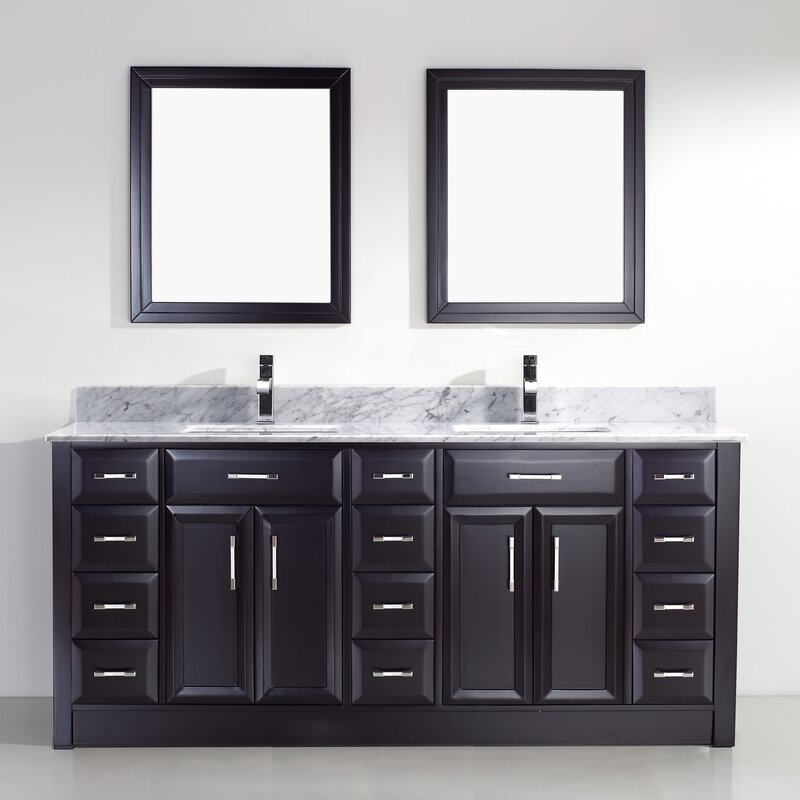 What Is A 75 Bathroom. Caledonia 75 Double Bathroom Vanity Set