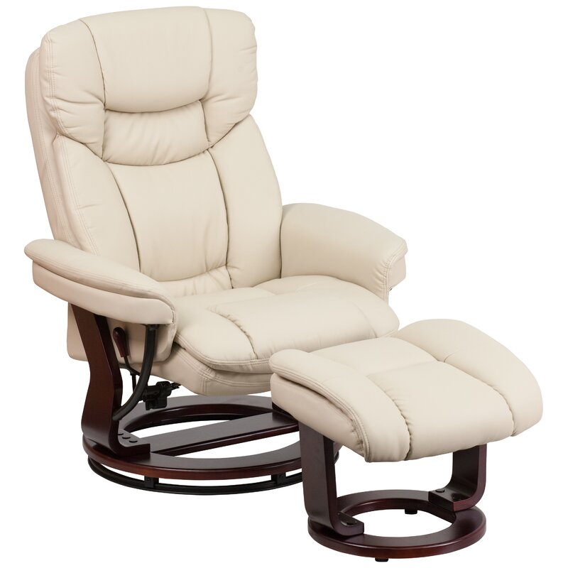 Duralee Manual Recliner with Ottoman  sc 1 st  Wayfair : leather chairs recliner - islam-shia.org