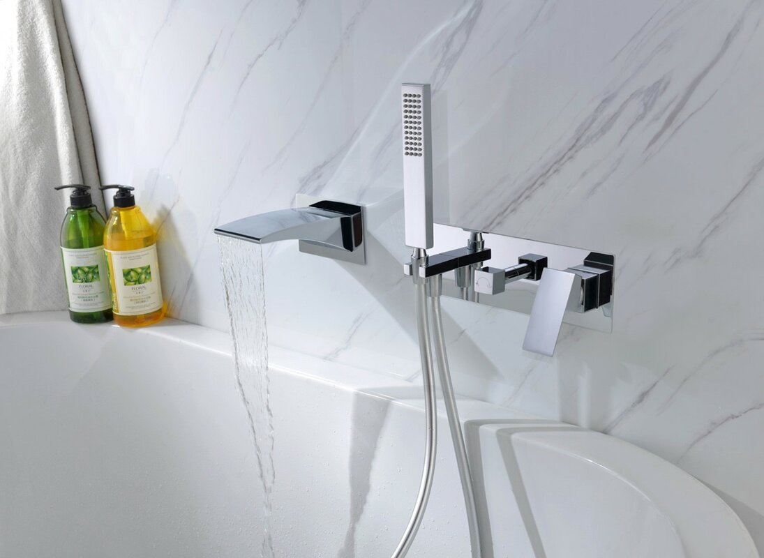 sumerain double handle wall mounted waterfall faucet