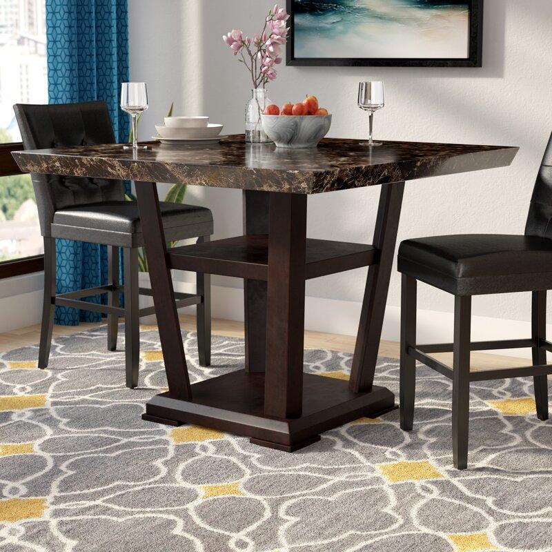 Square Coffee Table By Latitude Run: Latitude Run Leo Minor Counter Height Pub Table & Reviews