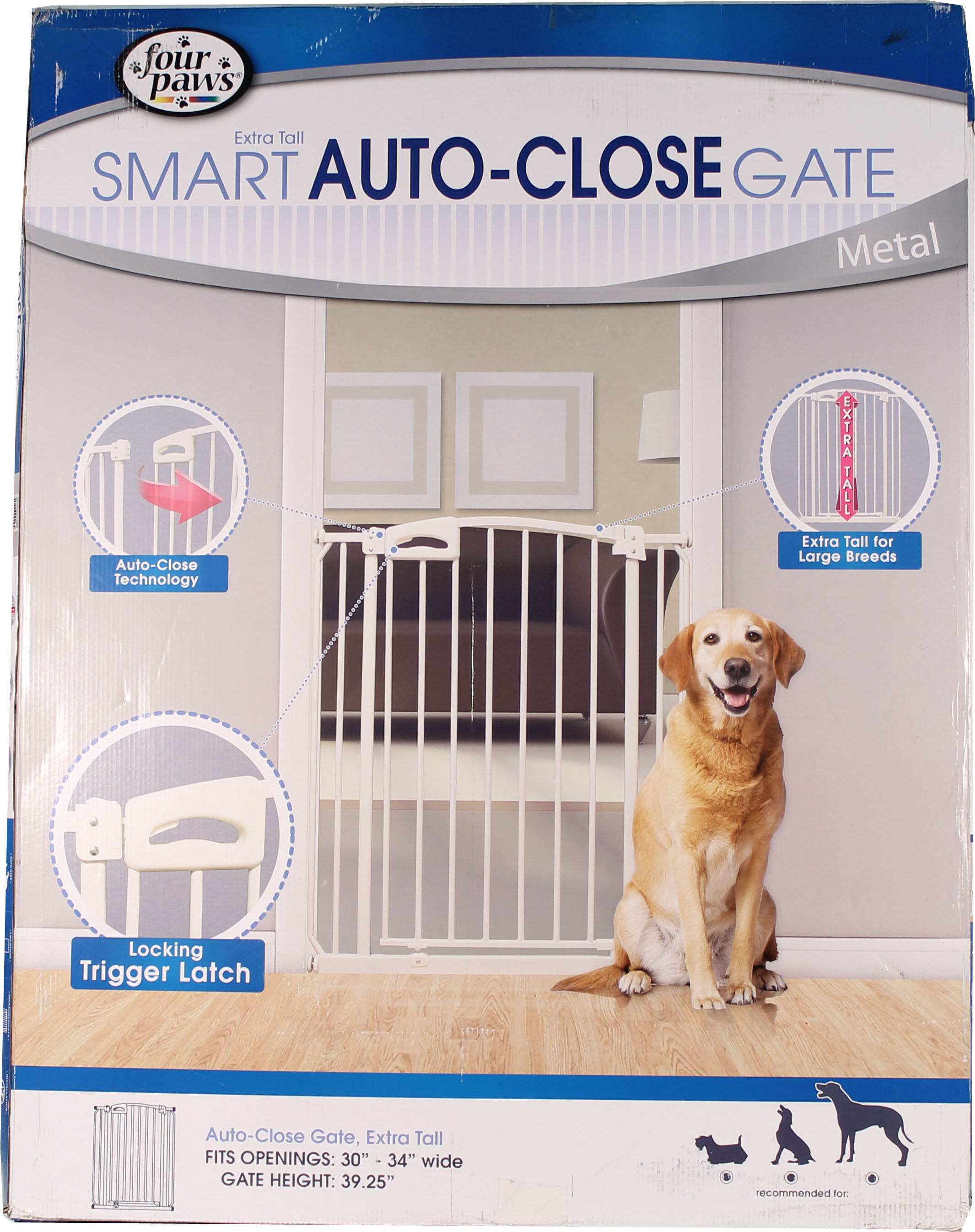 Four Paws Extra Tall Auto Closing Metal Dog Gate Reviews Wayfair