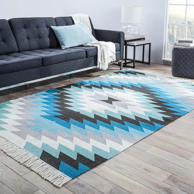 Valentina Blue Indoor/Outdoor Rug & Reviews | Birch Lane