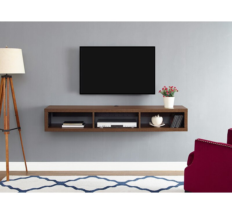 martin home furnishings shallow wall mounted tv stand for tvs up to 60 reviews wayfair. Black Bedroom Furniture Sets. Home Design Ideas