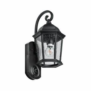 Porch light security camera wayfair hodgkins security camera outdoor wall lantern aloadofball Gallery