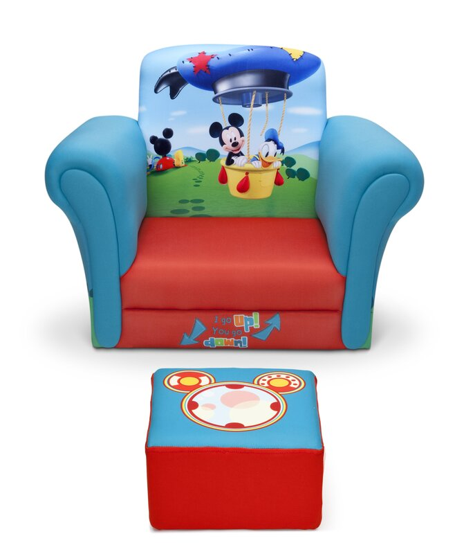 default_name - Delta Children Mickey Mouse Upholstered Kids Club Chair And