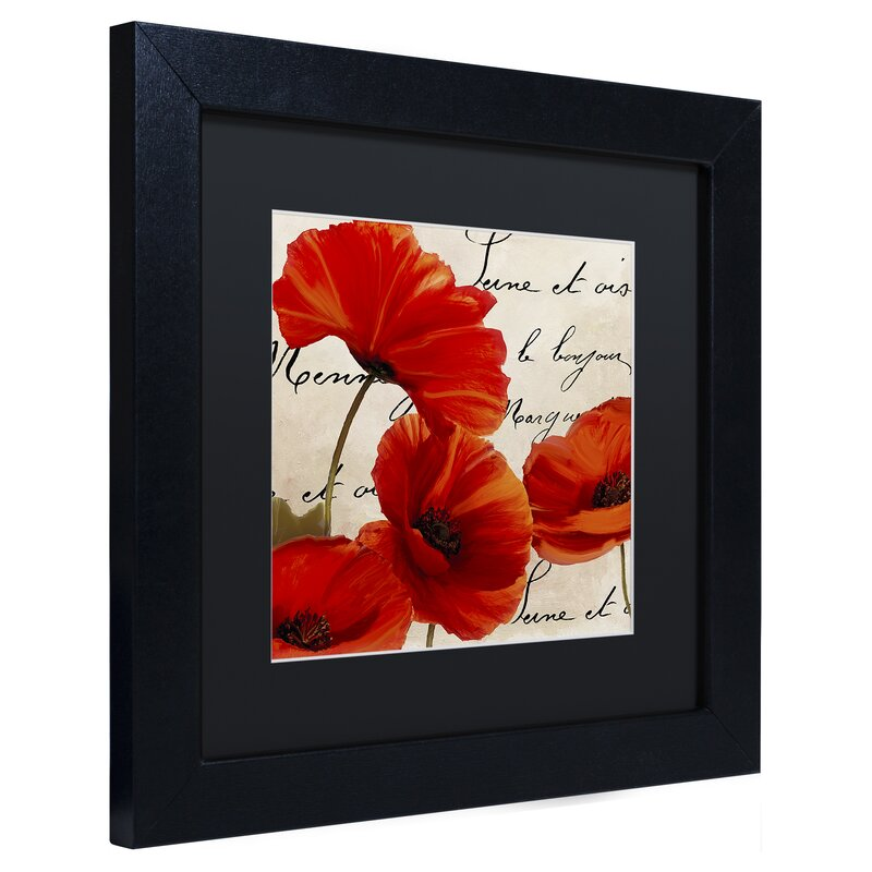Trademark Art Coquelicots Rouge I By Color Bakery Framed Graphic