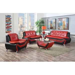 red living room sets you'll love | wayfair