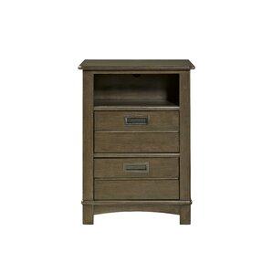 Litzy 2 Drawer Nightstand by Harriet Bee