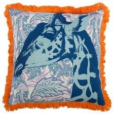 """Giraffe 18"""" Linen Throw Pillow"""