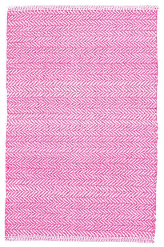 C3 Herringbone Pink Indoor/Outdoor Area Rug