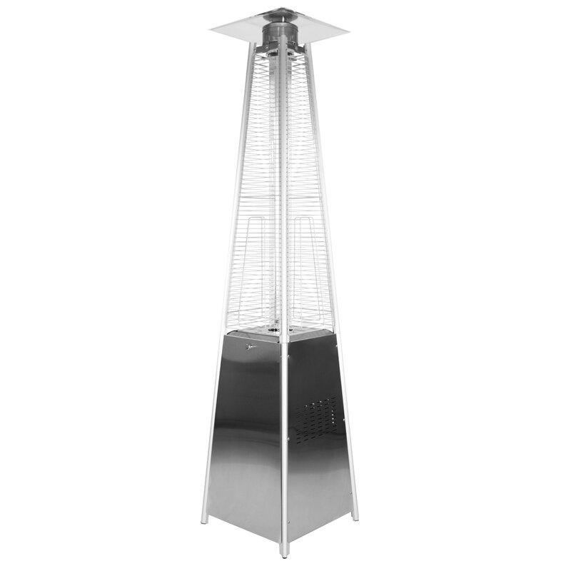 Garden Sun Stainless Steel Pyramid 34,000 BTU Propane Patio Heater - Garden Radiance Garden Sun Stainless Steel Pyramid 34,000 BTU