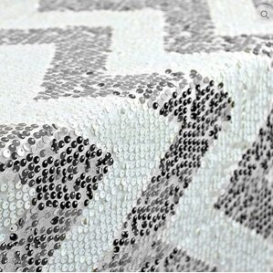 Cooley Sequin Chevron Table Runner