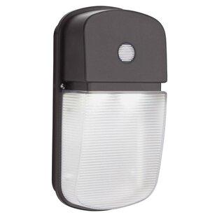 Dusk to dawn led light wayfair dusk to dawn integrated led 1 light outdoor flush mount workwithnaturefo