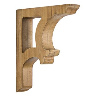 Elberta 2 Piece Wooden Corbels Shelf Brackets Vintage Farmhouse Wall Décor Set Of