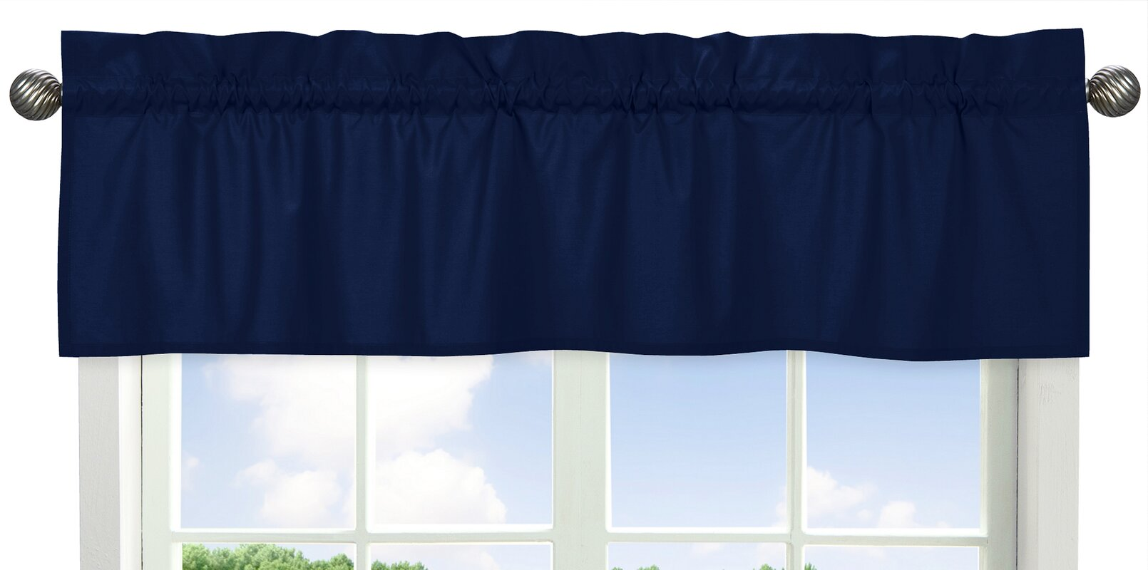 Sweet Jojo Designs Solid Navy Curtain Valance Amp Reviews
