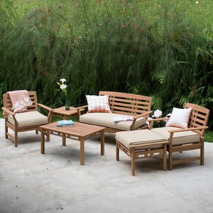 Doring Teak Patio Chair with Cushions Set