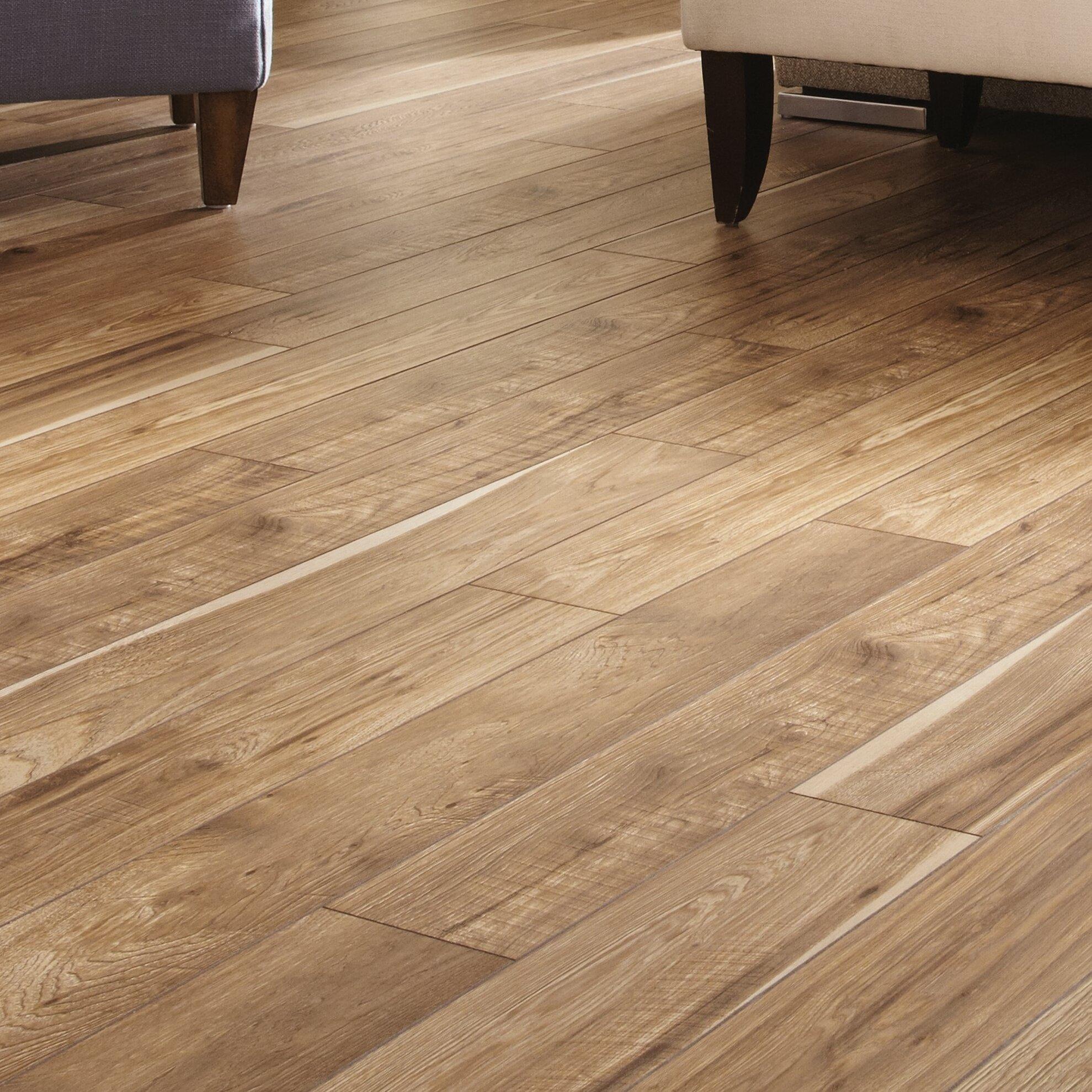 Mannington Restoration 6 X 51 12mm Hickory Laminate Flooring In Natural Wayfair