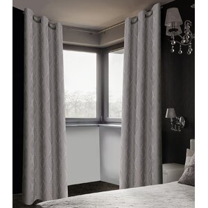 Finley Brocade Damask Blackout Curtain Panels (Set of 2)