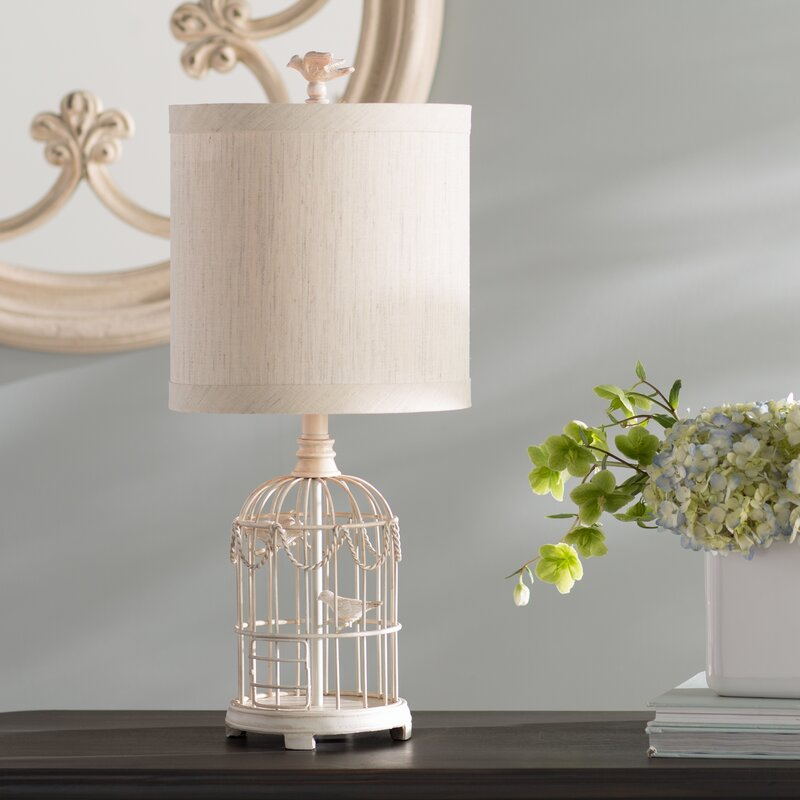 Lark Manor Ousley Bird Cage 24 Table Lamp Reviews Wayfair