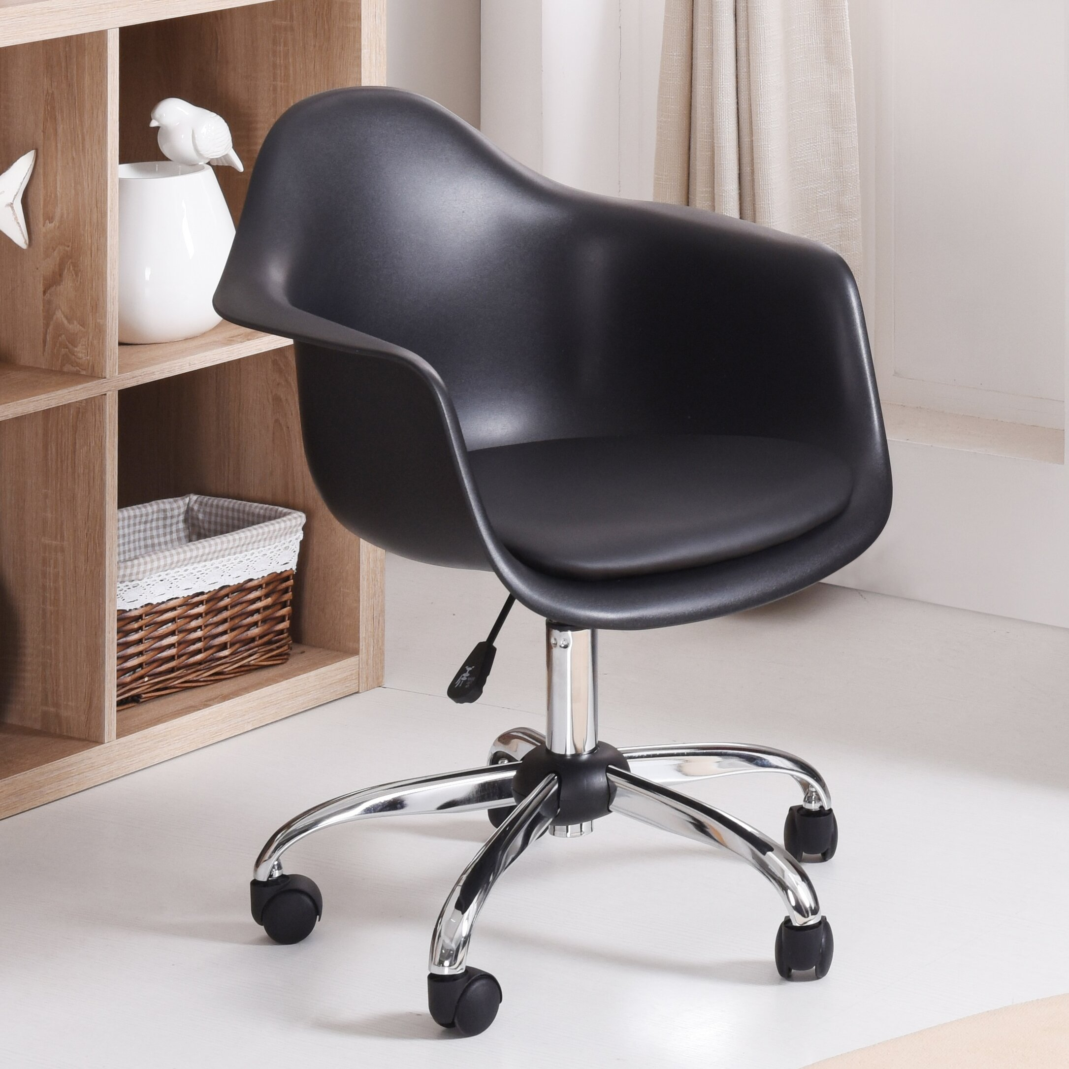 Wrought Studio Marine Park Rolling Desk Chair U0026 Reviews | Wayfair