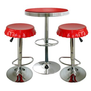 Southampton Retro Soda Cap 3 Piece Pub Table Set