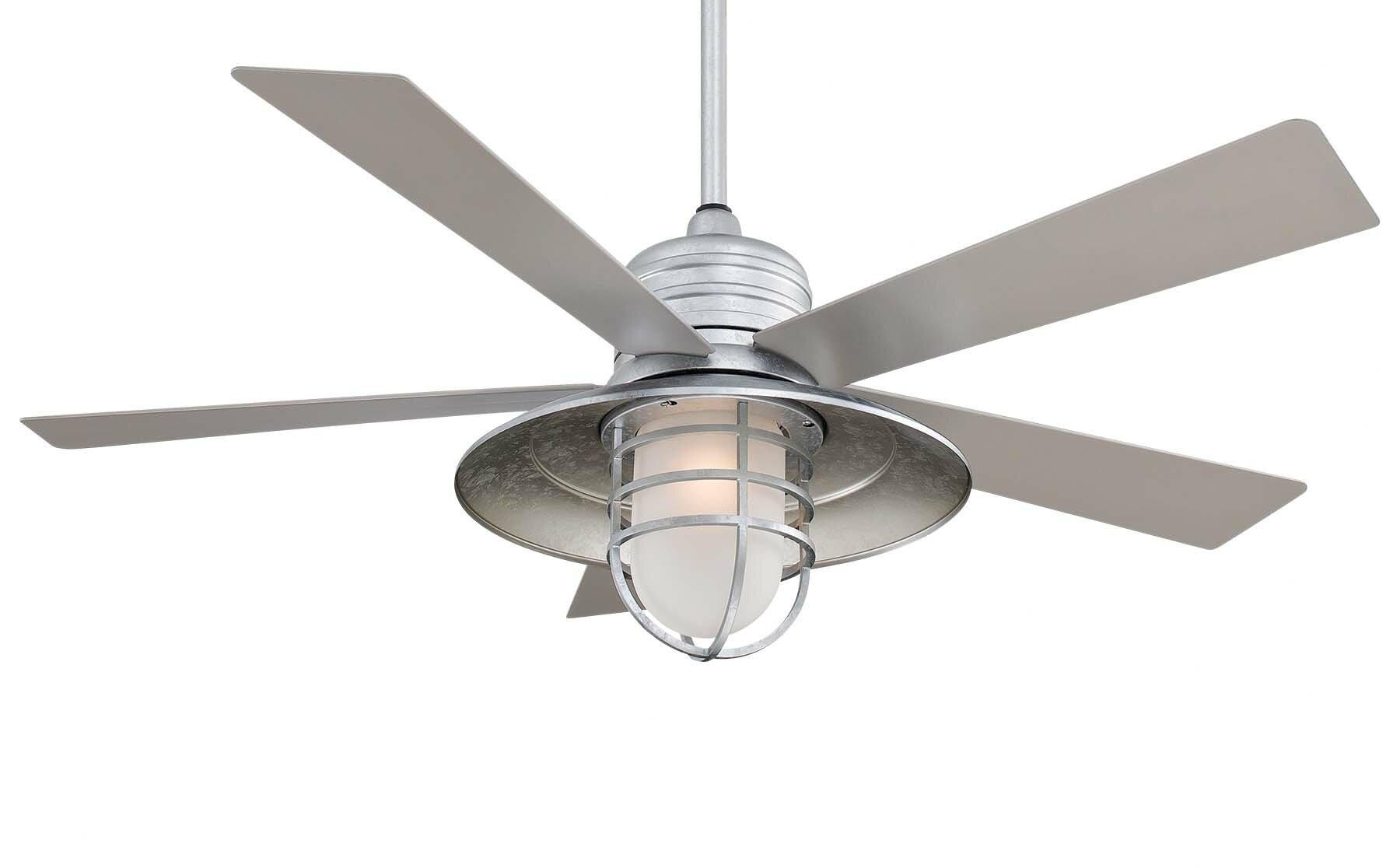 "minka aire 54"" rainman 5 blade outdoor led ceiling fan & reviews"