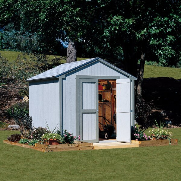 w x 7 ft 9 in d wooden storage shed reviews wayfair - Garden Sheds 7 X 9