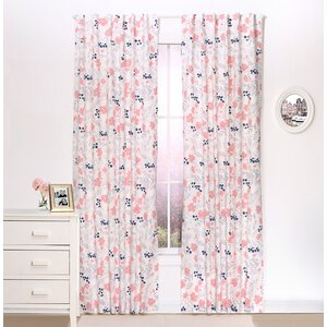 Floral Nature/Floral Blackout Rod Pocket Curtain Panels (Set of 2)