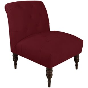 Charmant Red Tufted Chair | Wayfair