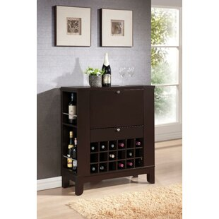 Kinnear Wooden Bar with Wine Storage