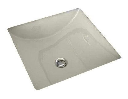 Cove Ceramic Square Undermount Bathroom Sink With Overflow