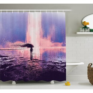 Trippy Spiritual Wind With Blowing Long Hair On The Water Shower Curtain Set