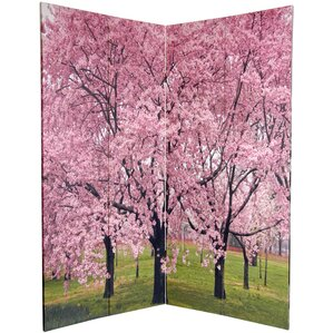 Pink Room Dividers Youll Love Wayfair - Cherry blossom room divider screen