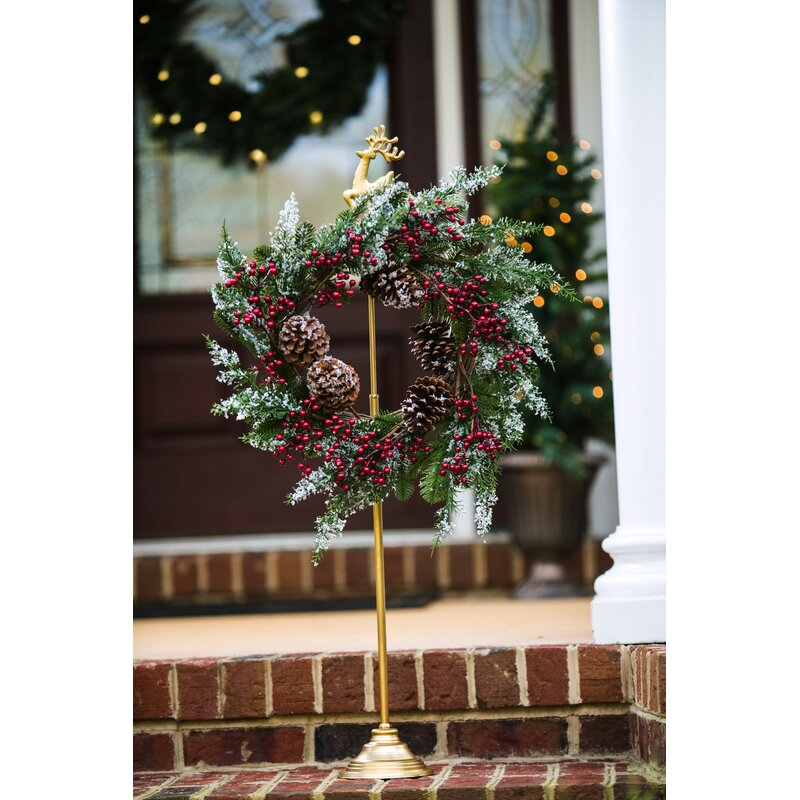 Charlton Home Reindeer Wreath Holder Reviews Wayfair